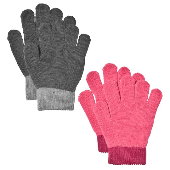 Lindberg 2-pack Lanna Magic Fingervantar Svart/ Cerise Multi