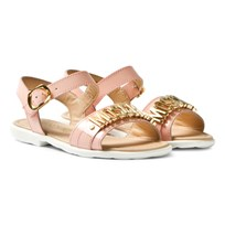Moschino Kid-Teen Pink Vernice Branded Sandals VERNICE ROSA