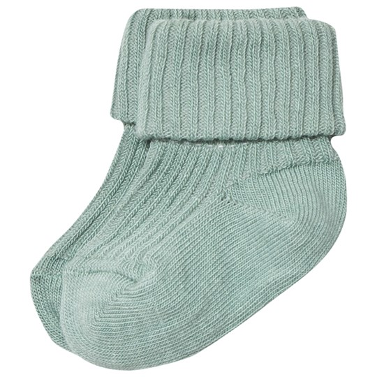 MP Cotton Ankle Rib Baby Socks Oxide Green Oxide Green