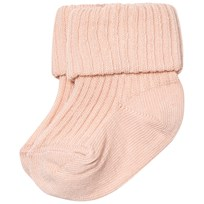 MP Cotton Ankle Rib Baby Socks Powder Pink
