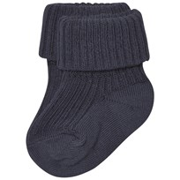 MP Cotton Ankle Rib Baby Socks Indi Blue Indi Blue