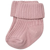 MP Cotton Ankle Rib Baby Socks Wood Rose WOOD ROSE