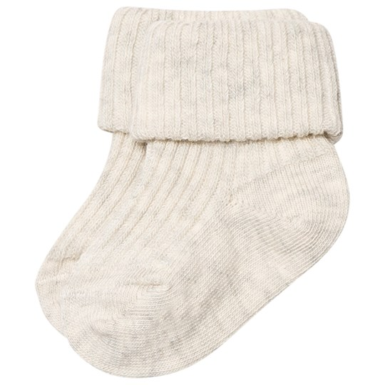 MP Cotton Ankle Rib Baby Socks Creme Marle Creme Marl