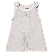 Lillelam Dungaree Baby Dress, Light Grey Lysegrå