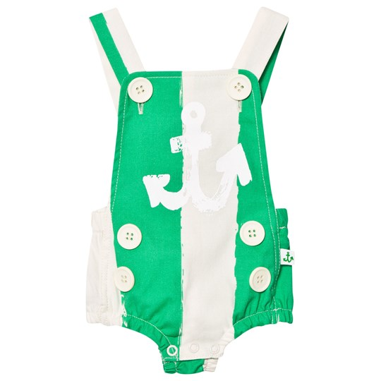 Noe & Zoe Berlin Randig Sailor Romper Grön GREEN STRIPE XL