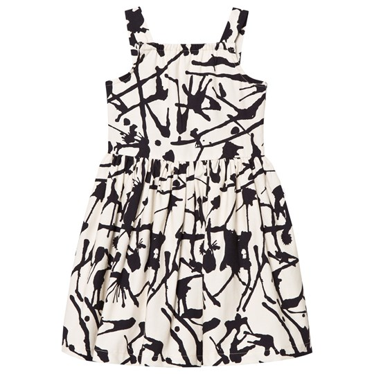 Noe & Zoe Berlin Black Ink Print Cotton Dress BLACK INK