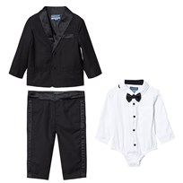 Andy & Evan Black Four Piece Tuxedo Set Black