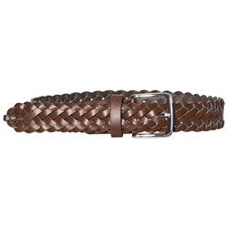 Andy & Evan Brown Faux Leather Braided Belt