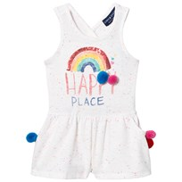 Andy & Evan White Happy Place Rainbow Knit Dress White