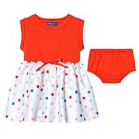 Andy & Evan Red Tee Dress with Spot Skirt Red