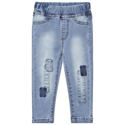 Nova Star Denim Pathed Slim Jeans Blue