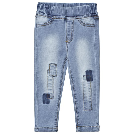Nova Star Denim Pathed Slim Jeans Blue Blue