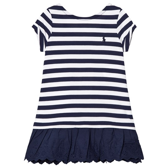 Ralph Lauren Navy Stripe Tee Dress 001