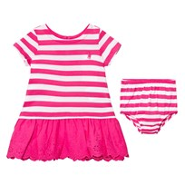 Ralph Lauren Pink Stripe Tee Dress Bloomers 002