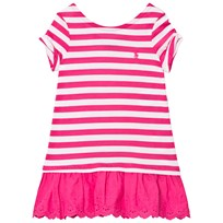 Ralph Lauren Pink Stripe Tee Dress 002