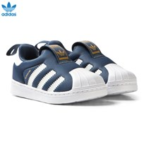 adidas Blue Superstar 360 Slip On Trainers TECH INK