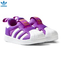 adidas Purple Superstar 360 Slip On Trainers SHOCK PURPLE