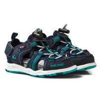Viking Loke Sandals Navy/Green Navy/green