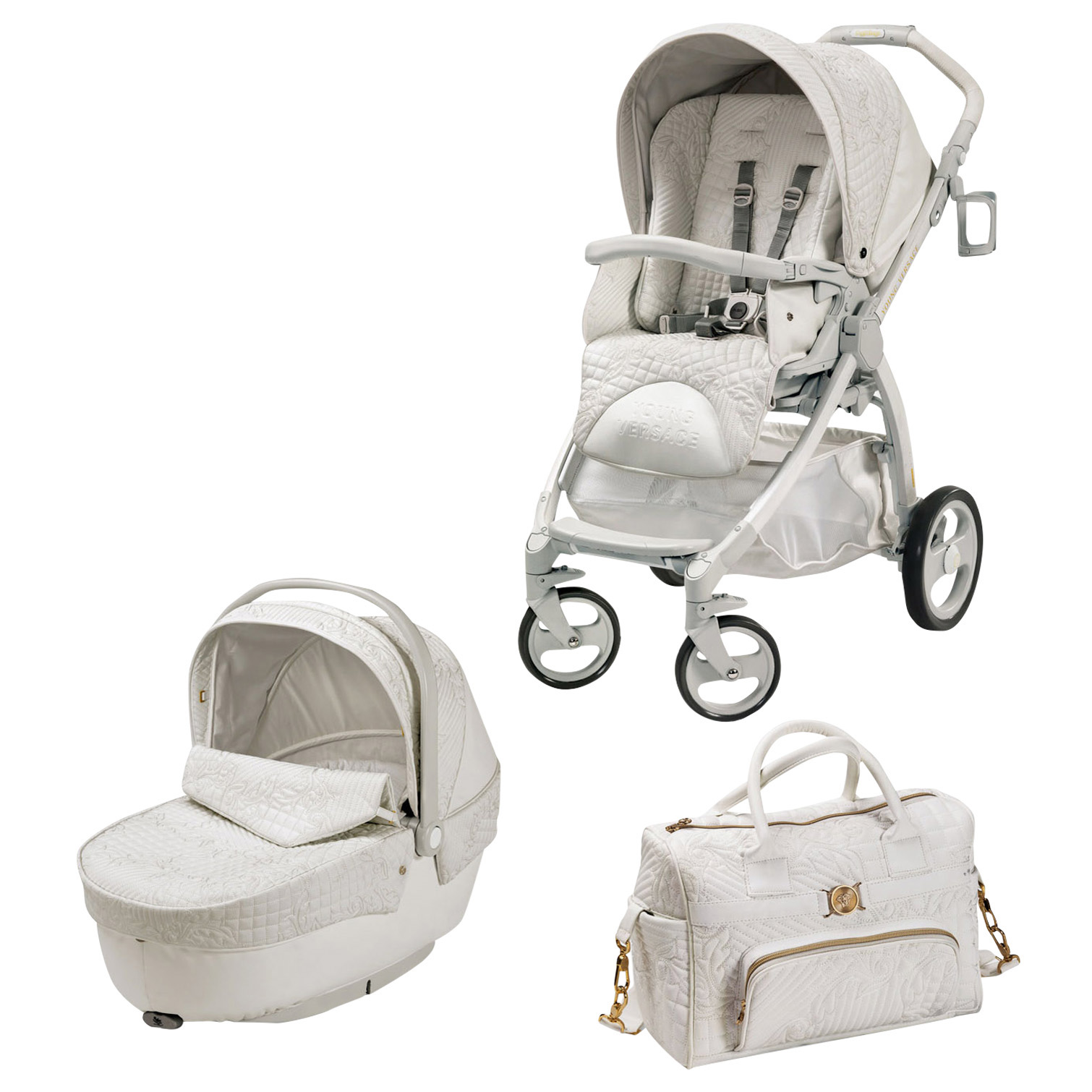 Young Versace Young Versace Stroller White Babyshop