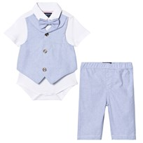 Andy & Evan Light Blue Oxford Two-Piece Set Light Blue