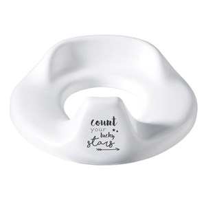 Image of Bebe-Jou Toilet Trainer Adjustable Lucky Quotes White White (3065504929)