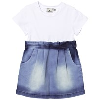 Nova Star Dress Denim Blue White Blue/White