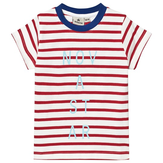 Nova Star Line T-shirt Off White/Red Offwhite/red