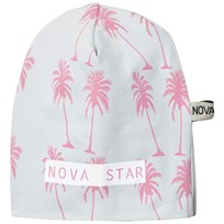 Nova Star Beanie Pink Palms Grey Black