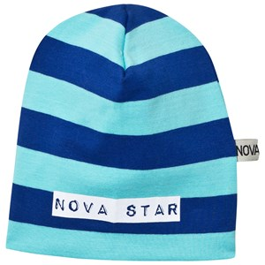 Image of Nova Star Beanie Striped Blue NB (0-3m) (2743778621)