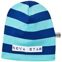 Nova Star Beanie Striped Blue Blue