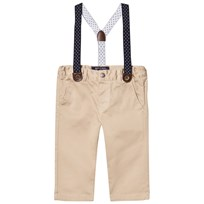 Mayoral Beige Micro Cord Trousers with Braces 66