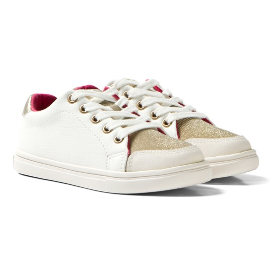 Mayoral White and Gold Glitter Trainers 59
