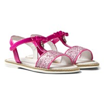 Mayoral Pink Patent Glitter Bow Sandals 47