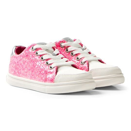Mayoral Pink Glitter and Canvas Zip Trainers 64