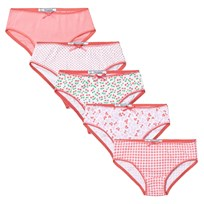 Mayoral 5 Pack of Pink Floral, Spot and Bow Knickers 24