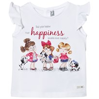 Mayoral White Puppies and Girls Print Tee 69