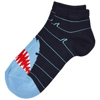 Falke Navy Shark Sneaker Socks 6120