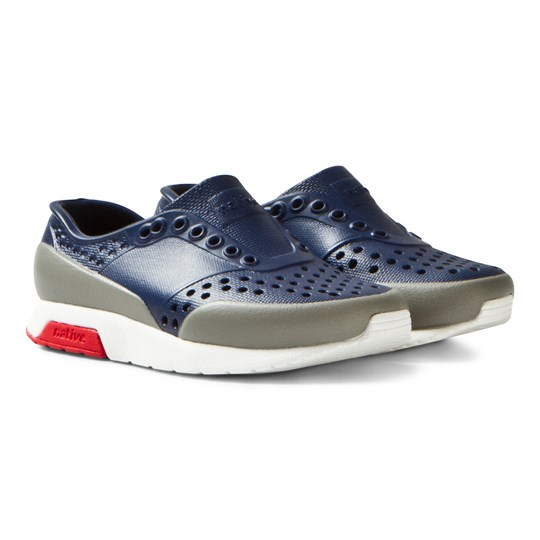 Native Navy Lennox Perforated Trainers 8388