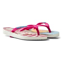 Havaianas Alice In Wonderland Slim Flip Flops White/Rose
