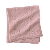 Kids Concept Knitted Blanket Pink