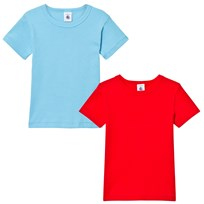 Petit Bateau 2 Pack of Blue and Red Short Sleeve Tees 99