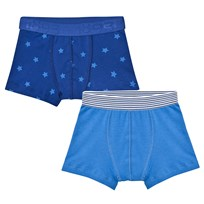 Petit Bateau 2 Pack of Blue and Star Print Trunks 00