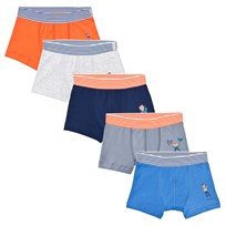 Petit Bateau 5 Pack of Multi Trunks with Stripe Waistband 00