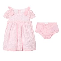 Mayoral Pink Eyelet Dress and Knickers 95