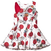 Jessie & James White and Red Floral and Spot Pleated Anna Dress with Bow Detail ARABELLA ROSES