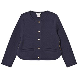 Cyrillus Navy Quilted Jersey Jacket