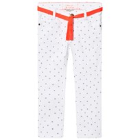 Cyrillus White Jeans with Blue Star Print Ecru