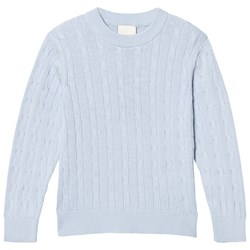 Cyrillus Blue Cable Knit Jumper