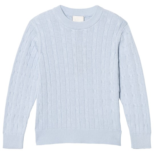 Cyrillus Blue Cable Knit Jumper Blue