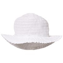 Grevi White Tiered and Broderie Anglaise Sun Hat 7301